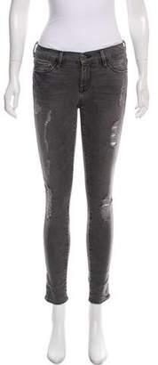 Frame Low-Rise Le Skinny de Jeanne Jeans