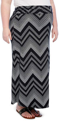 PLANET MOTHERHOOD Planet Motherhood Maxi Skirt- Plus Maternity