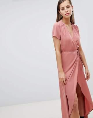 Hope and Ivy Hope & Ivy Wrap Tea Dress