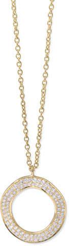 Ippolita Stardust 18k Gold Diamond Open Circle Pendant Necklace