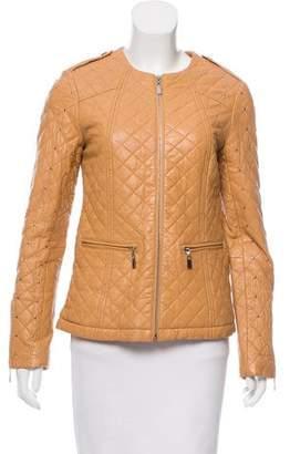 Neiman Marcus Studded Leather Jacket