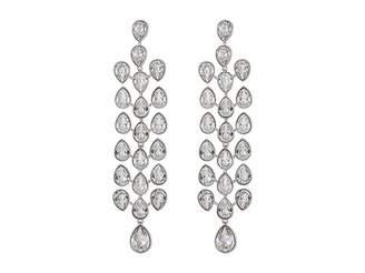 Swarovski Lake Pear Chandelier Pierced Earrings