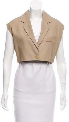 Dusan Leather Cropped Vest