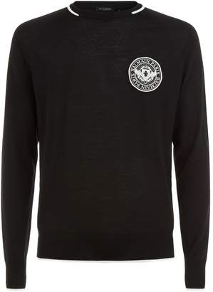 Balmain Medallion Logo Embroidered Sweater