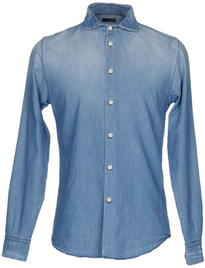 (+) People + PEOPLE Denim shirts - Item 42611888