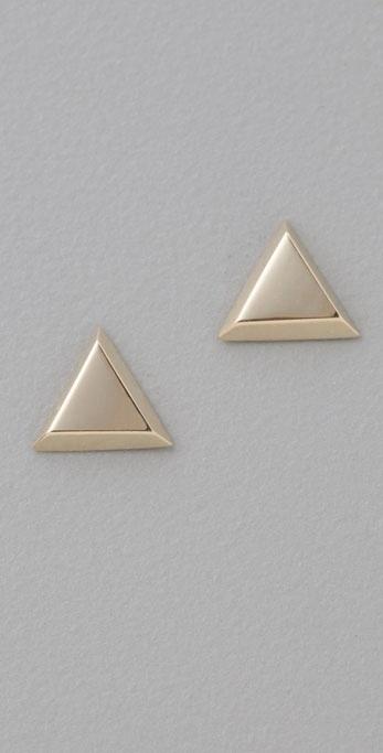 Lena Wald Triangle Stud Earrings
