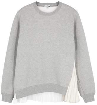 Clu Grey Pleat-trimmed Cotton