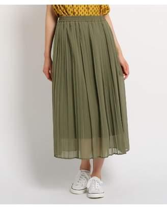 Dessin (デッサン) - Ladies [洗える][ウエストゴム]楊柳シフォンプリーツスカート