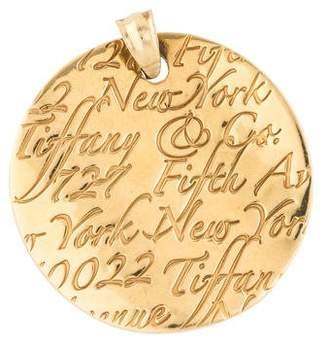 Tiffany & Co. 18K Notes Pendant