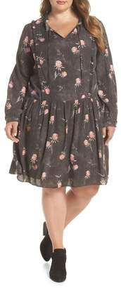 Caslon Printed Split Neck Dress