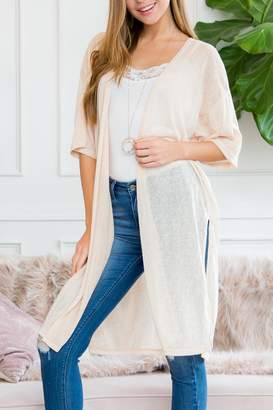 Riah Fashion Solid-Cover-Up With-Sleeve