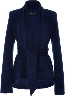 Brandon Maxwell Drape Collar Jacket
