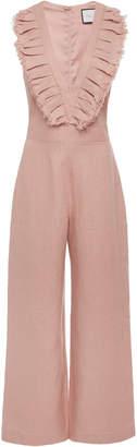 Alexis Odalys Cropped Linen Jumpsuit