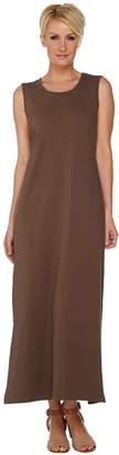 Denim & Co. Solid Scoop Neck Sleeveless Maxi Dress