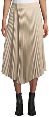 Vince Draped Pleated Midi Skirt