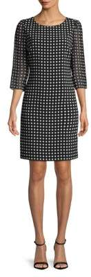 Polka-Dot Shift Dress