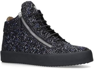 Giuseppe Zanotti Glitter Mid-Top Sneakers