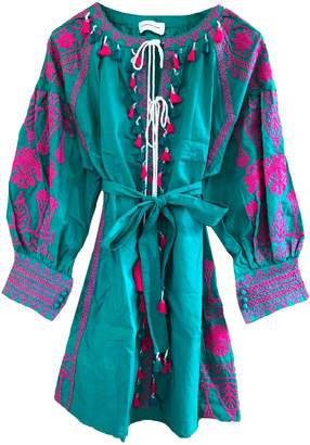Goodnight Macaroon 'Barney' Boho Embroidered Tassels Tunic Dress (2 Colors)