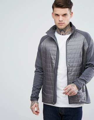 Marmot Variant Quilted Hybrid Jacket in Gray