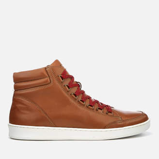 Kurt Geiger London Men's Brighton Leather Hiker Style Hi-Top Trainers - Tan