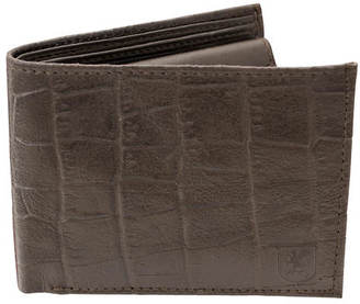 Stacy Adams Croco Embossed Bifold Wallet $24.95 thestylecure.com