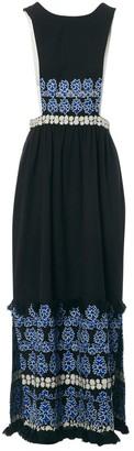 Suno Black Cotton Dress for Women
