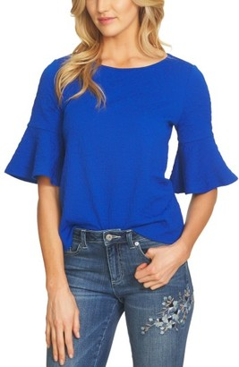 Women's Cece Bell Sleeve Paisley Jacquard Top $59 thestylecure.com