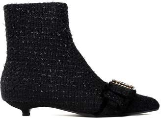Anna Baiguera Annaveronica Crystal-embellished Boucle Booties