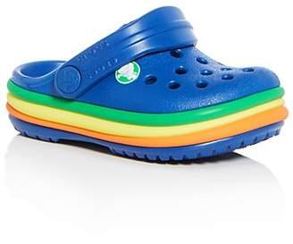 Crocs Unisex Rainbow Band Clogs - Toddler, Little Kid, Big Kid