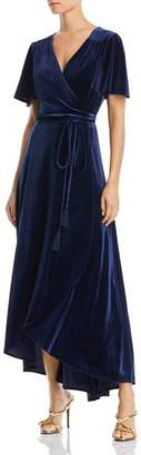 Aqua Velvet Maxi Wrap Dress - 100% Exclusive