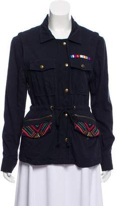 Mara Hoffman Embroidered Zip-Up Jacket