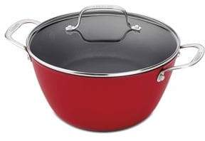 Cuisinart Cast Iron Lite Cookware 5.25 Qt Dutch Oven with Cover in Red
