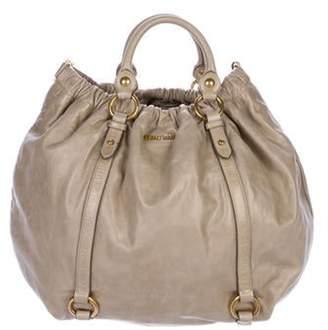 Miu Miu Vitello Lux Shoulder Bag Tan Vitello Lux Shoulder Bag