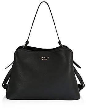 Prada Women's Large Matinee Leather Top Handle Bag