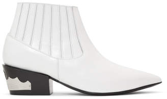 Toga Pulla White Ankle Boots