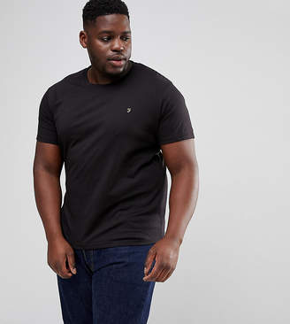 Farah PLUS Farris Slim Fit T-Shirt in Black