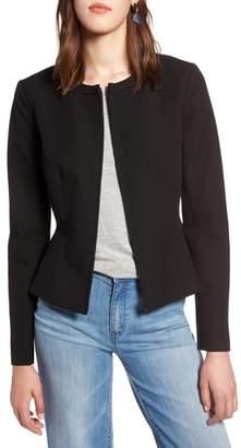 Halogen Zip Front Peplum Jacket