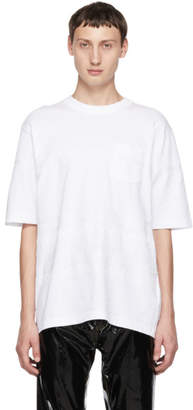 Sacai White Embroidered T-Shirt