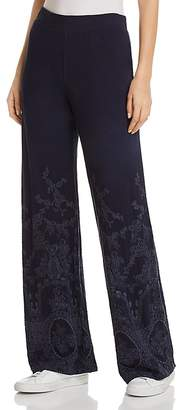 XCVI Embroidered Wide-Leg Pants