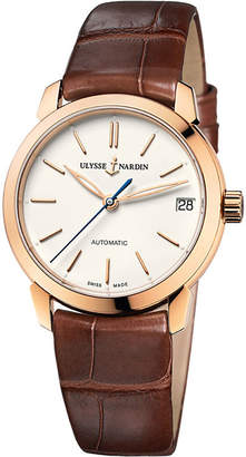 Ulysse Nardin 8106-116-2/90 Classico alligator-leather and 18ct rose-gold watch