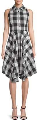Julia Jordan Women's Gingham Cotton Shirtdress