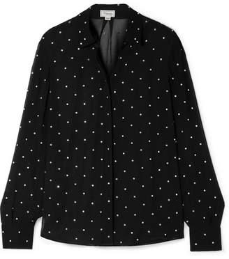 Temperley London Twinkle Crystal-embellished Georgette Blouse - Black