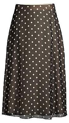 Theory (セオリー) - Theory Theory Women's Polka Dot Silk A-Line Midi Skirt