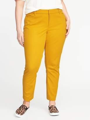 Old Navy Mid-Rise Secret-Slim Pockets Plus-Size Pixie Ankle Pants