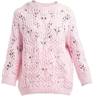 Vika Gazinskaya Neon Thread Sweater - Womens - Pink