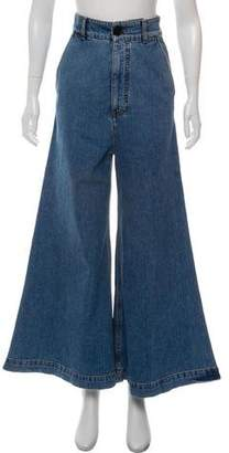Marni High-Rise Flared Jeans