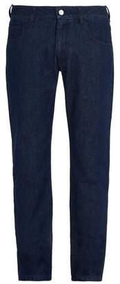 Raf Simons Regular Fit Straight Leg Jeans - Mens - Dark Navy