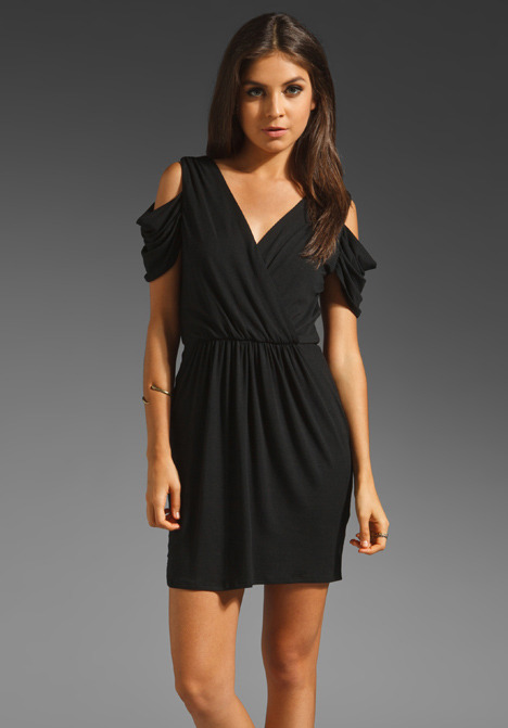 Akiko Draped Sleeve Dress