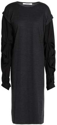 Chalayan Ruffle Jersey-Paneled Poplin Dress