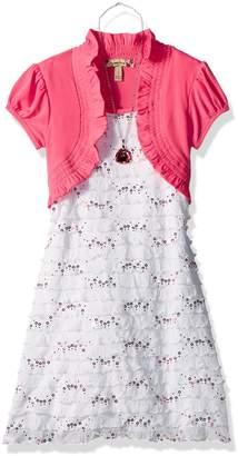 Speechless Big Girls' Glitter Eyelash Dress